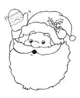 Раскраска Дед Мороз поёт песенку
