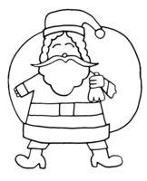 Раскраска Дед Мороз спешит на праздник