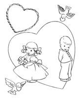 Раскраска День Святого Валентина для детей