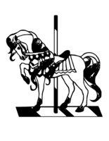 Раскраска Деревянная лошадь
