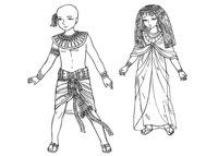 Раскраска Дети Древнего Египта