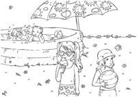 Раскраска Дети в летнем бассейне