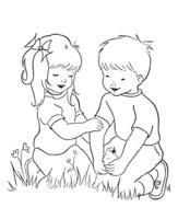 Раскраска Дети