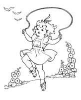 Раскраска Девочка со скакалкой