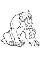 Раскраска Диего с мальчиком