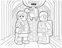 Раскраска Дикарка, Эммет и Бэтмен