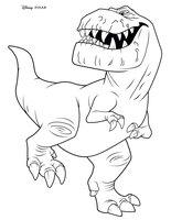 Раскраска Динозавр Бутч