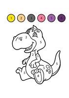 Раскраска Динозавр по цифрам