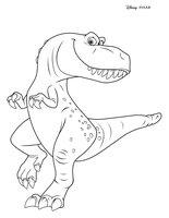 Раскраска Динозавр Рэмси