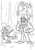 Раскраска Диппер и дядя Стэн