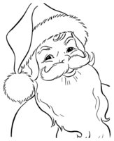 Раскраска Добрый Дедушка Мороз