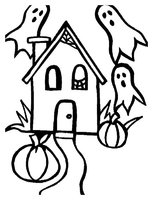 Раскраска Домик с привидениями