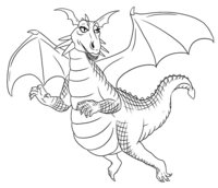 Раскраска Дракон-девушка