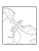 Раскраска Дракон Эллиот