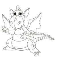 Раскраска Дракон-забавный малыш