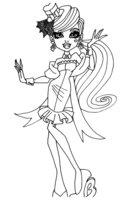 Раскраска Дракулаура Monster High