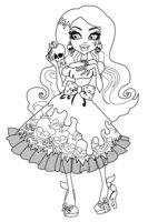 Раскраска Дракулаура-принцесса