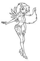 Раскраска Друзья ангелов Сладкая