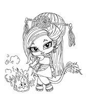 Раскраска Дженифер Лонг — дочь китайского Дракона