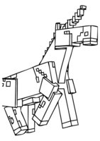 Раскраска Единорог из Майнкрафт