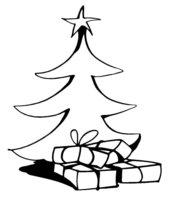 Раскраска Элегантная стройная новогодняя елка
