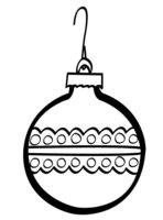 Раскраска Елочный шар с арнаментом