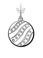 Раскраска Елочный шар