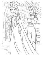 Раскраска Эльза и Ханс
