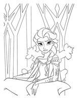 Раскраска Эльза на снежном троне