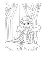 Раскраска Эльза в Ледяном дворце