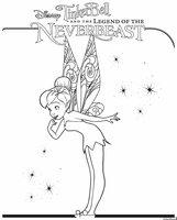 Раскраска Фея Тинкербелл и звёзды
