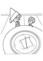 Раскраска Фиксики и самодельный компас