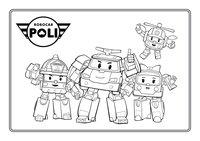 Раскраска Герои мультсериала Робокар Поли