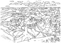 Раскраска Гранд-Каньон