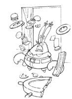 Раскраска Губка Боб поварёнок
