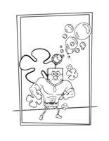 Раскраска Губка Боб в 3D