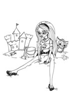 Раскраска Гулия Йелпс — дочь Зомби