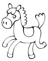 Раскраска Игрушечный пони