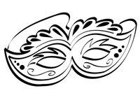 Раскраска Карнавальная маска