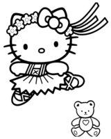 Раскраска Kitty на танцах