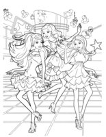 Раскраска Концерт Барби