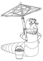 Раскраска Корней Корнеевич под зонтиком