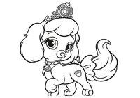 Раскраска Королевский питомец Золушки щенок Тыковка