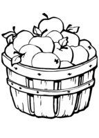 Раскраска Корзина яблок