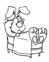 Раскраска Кролик приболел
