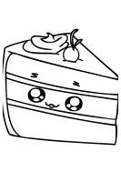 Раскраска Кусочек торта