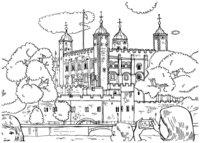 Раскраска Лондонский Тауэр