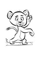 Раскраска Львёнок из Мадагаскара