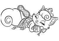 Раскраска Любимец Авроры   Котёнок Милашка