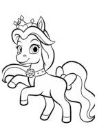Раскраска Любимец Белль пони Невеличка